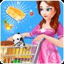 icon Pregnant Mom Food Shopping